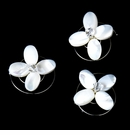 3 Chic Mother Of Pearl Flower Twist-Ins