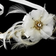 Accented Ivory Ribbon Bridal Headpiece