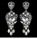 Antique Rhinestone & Freshwater Pearl Accent Drop Earrings