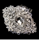 Antique Rhodium Silver Rhinestone Comb