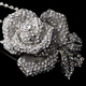 Antique Rose Silver Clear Headpiece