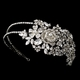 Antique Silver Crystal Headpiece
