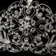Antique Silver Rhodium Clear Rhinestone Bridal Royal Tiara