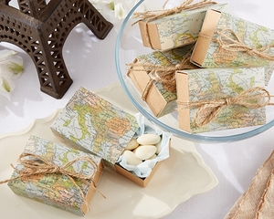 Around the World Map Favor Box (Quanity of 24)