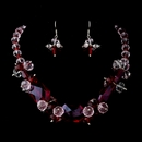 Austrian Crystals Red Necklace Earring Set