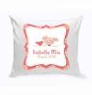 Baby Birdies Nursery Throw Pillow