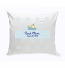 Baby Boy Boat Nursery Throw Pillow