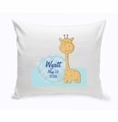 Baby Boy Giraffe Nursery Throw Pillow