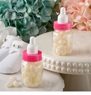 Baby Girl Bottle Favor With White Jelly Bean Candy