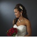 Beautiful Silver Crystal, Porcelain & Pearl Bridal Jewelry Set