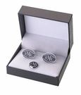 Black Band Cufflink Set