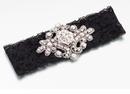 Black Jeweled Garter