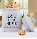 Bless Our Home Personalized Ceramic Cookie Jar
