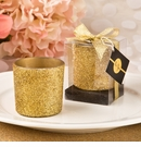 Bling Gold Glitter Candle Votive