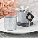 Bling Silver Glitter Candle Votive