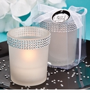 Bling White Candle Holder