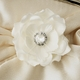 Bridal Clutch With Jeweled Delphinium Flower