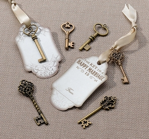 Bronze Key Tag Set for Guest Signing (Set of 24)