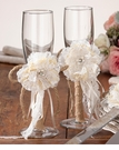 Burlap Toasting Glass Set