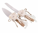 Burlap Knife & Server Set