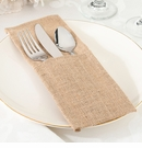 Burlap Silverware Holder Set of 4