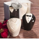 Ceramic Bride and Groom Salt and Pepper Shakers