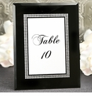 Chic Black Glass Frame with Silver