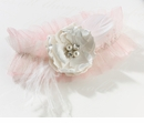 Chic Shabby Blush Bridal Garter