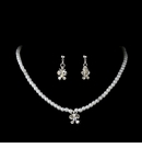 Childrens Butterfly Pearl Crystal Jewelry Set