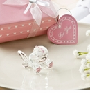 Choice Crystal Glass Baby Carriage with Pink Design