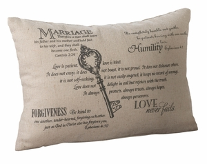 Christian Key Ring Pillow
