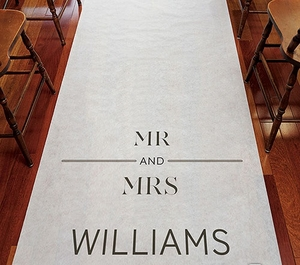 City Style Wedding Aisle Runner