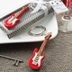 Classic Red Electric Guitar Keychain