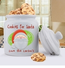 Cookies For Santa Personalized Cookie Jar