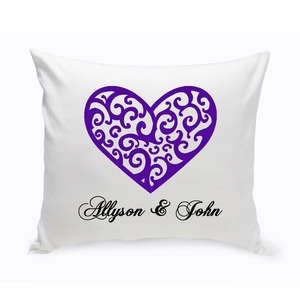 Couples Unity Hearts Throw Pillow