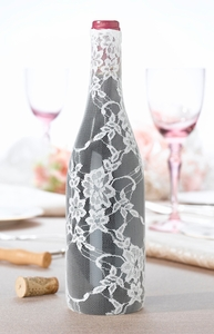 Cream Lace Wine Bottle Cover (Set of 6)