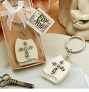 Cross Themed Plaque Keychain