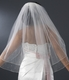Double Layer Elbow Length Veil Scattered Rhinestone & Pearl
