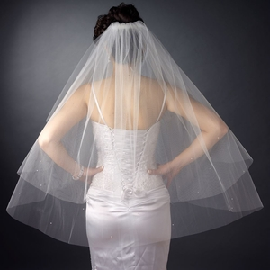 Double Layer Fingertip Length Veil