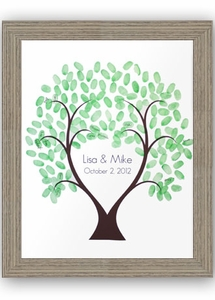"Driftwood Framed 16"" x 20"" Love Thumbprint Tree"
