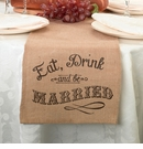 Eat Drink & Be Married Burlap Runner