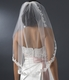 Elbow Length Beaded Embroidered Bridal Veil