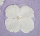 Elegant White Sheer Bridal Flower