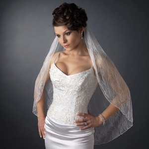 Embroided Lace Veil
