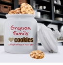 Family Cookies Ceramic Cookie Jar