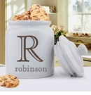 Family Initial Personalized Ceramic Cookie Jar