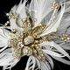 Feather Crystal Bridal Clip