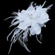 Floral Bridal Feather Hair Piece with Crystals
