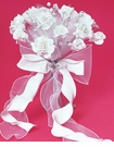Floral Fabric & Crystal Bouquet