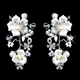Flower Crystal Porcelain Jewelry Set